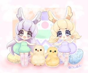 Easter Bunnies by Choc0Chu