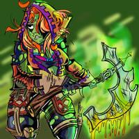 Orc Huntress  by x-RayneArashi-x