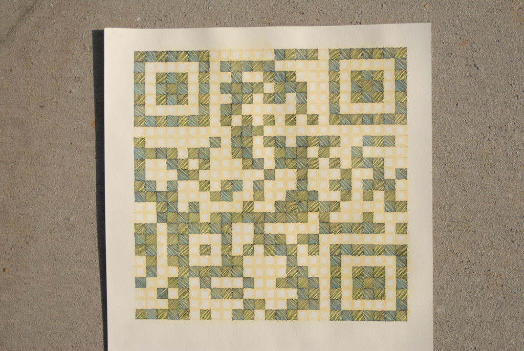 QR code drawing for home address
