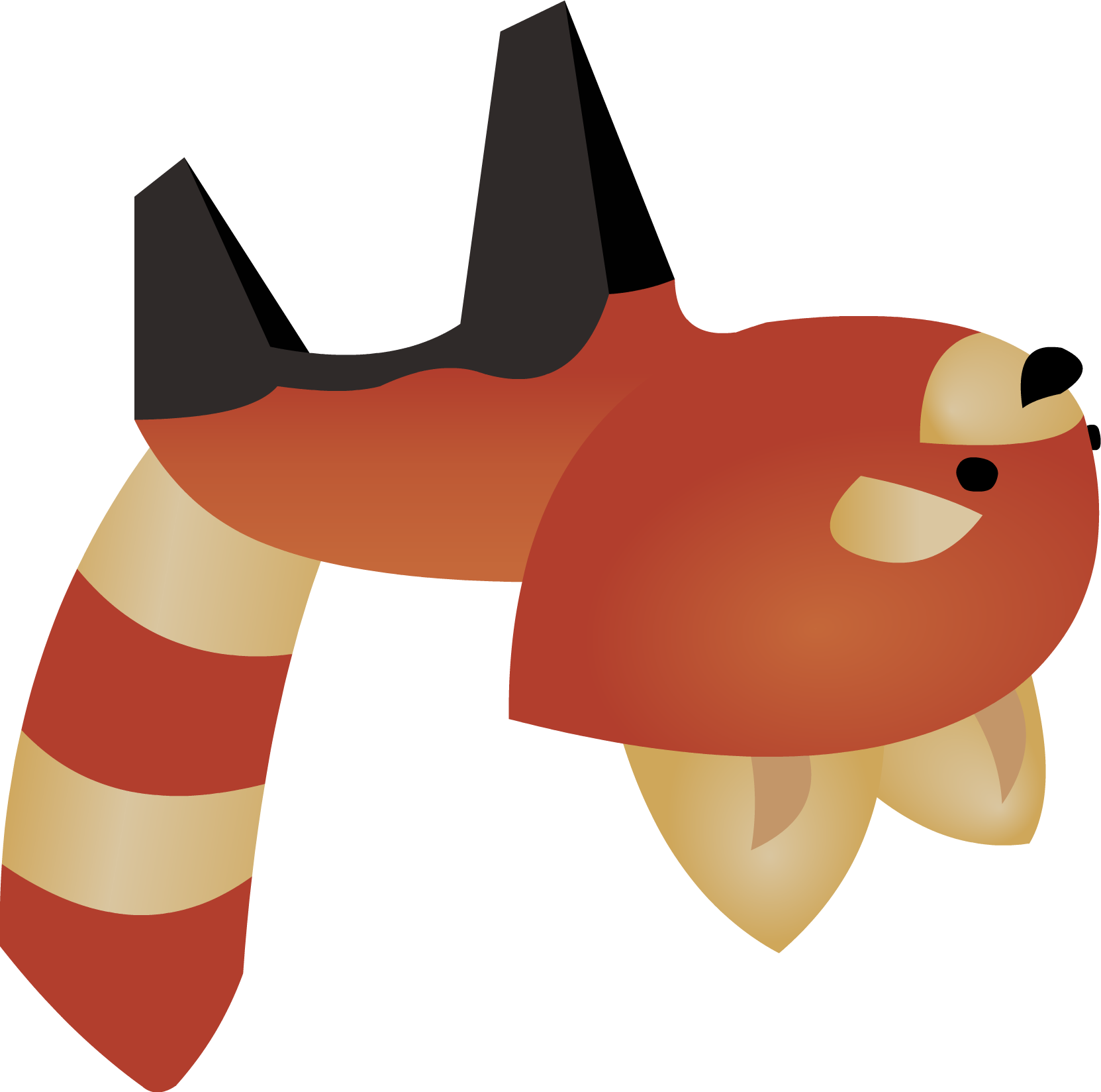 Panda Anime Pictures Animal Jam Red Panda Vector by
