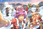 Aporkalypse Christmas Postcard by dreamplan2010