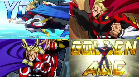 All costumes of All Might