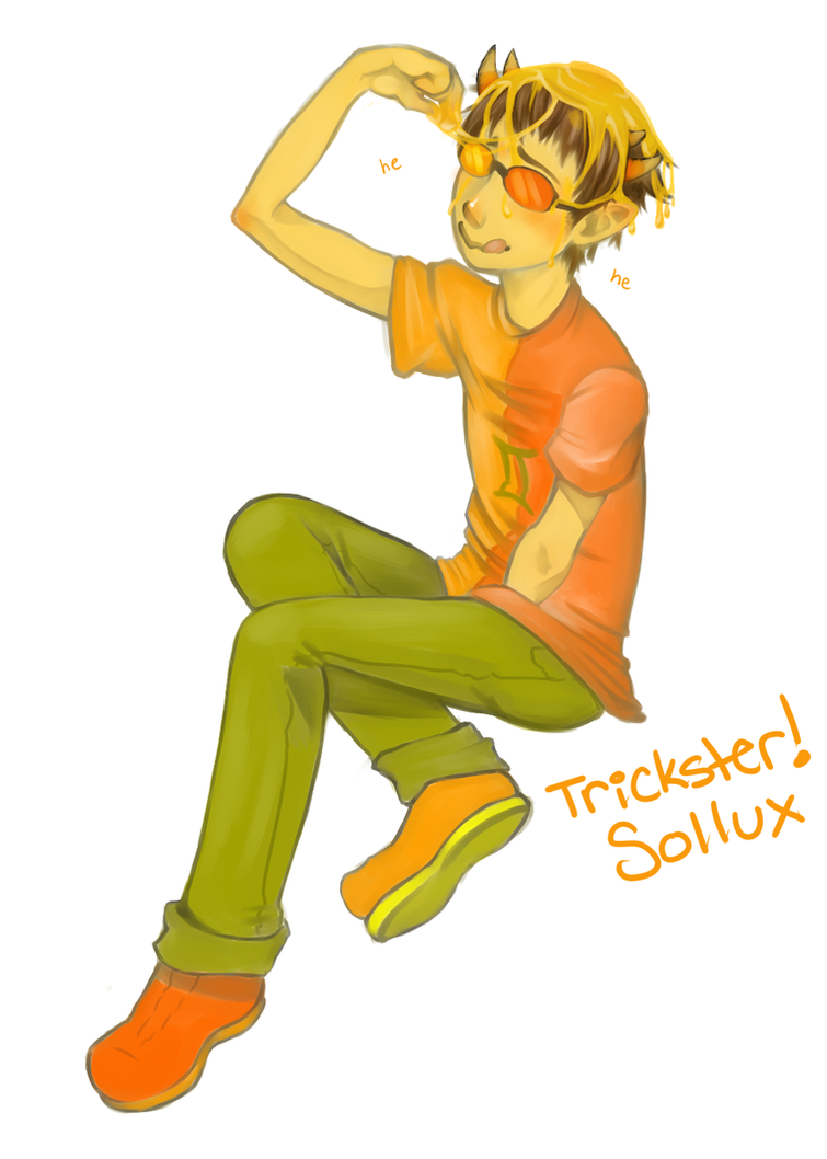 Trickster!Sollux by starkat107