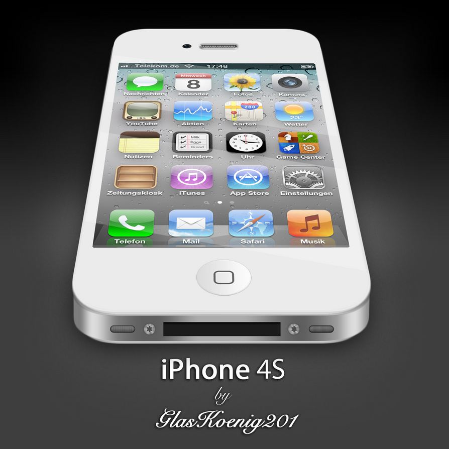iPhone 4S White by GlasKoenig201 on DeviantArt