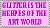 Glitter Stamp by hennanights