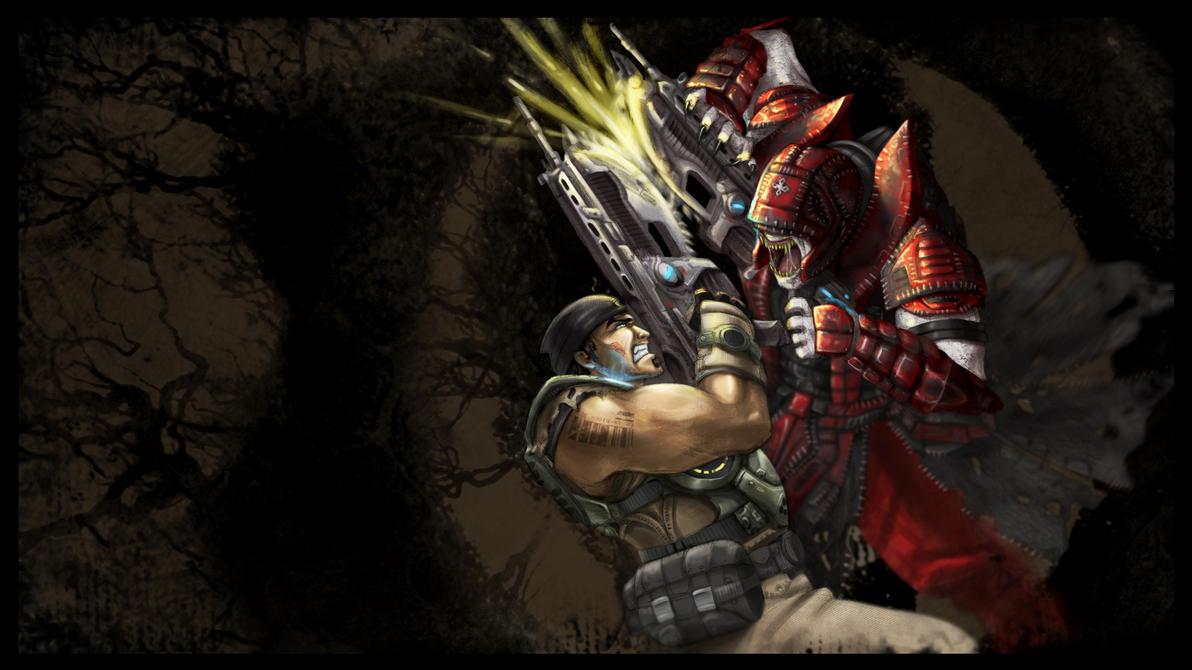Chainsaw Duel by Nanaga