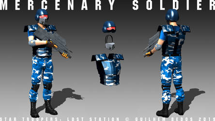 Star Troopers: Lost Station - Mercenary Soldier by Guilhem-Bedos