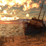 Sunny Beach Wreck by Guilhem-Bedos