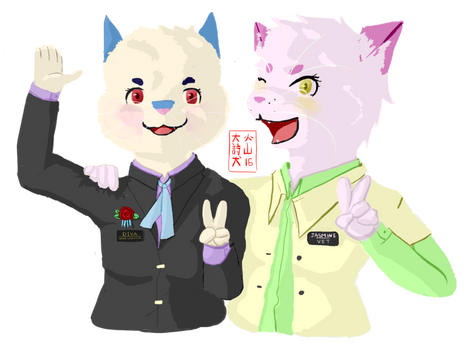 [Commission] Rabbit and Cat