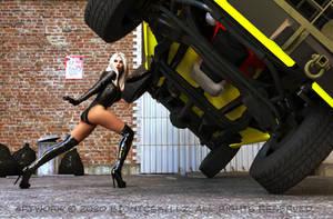 Bionic Boots lifting truck