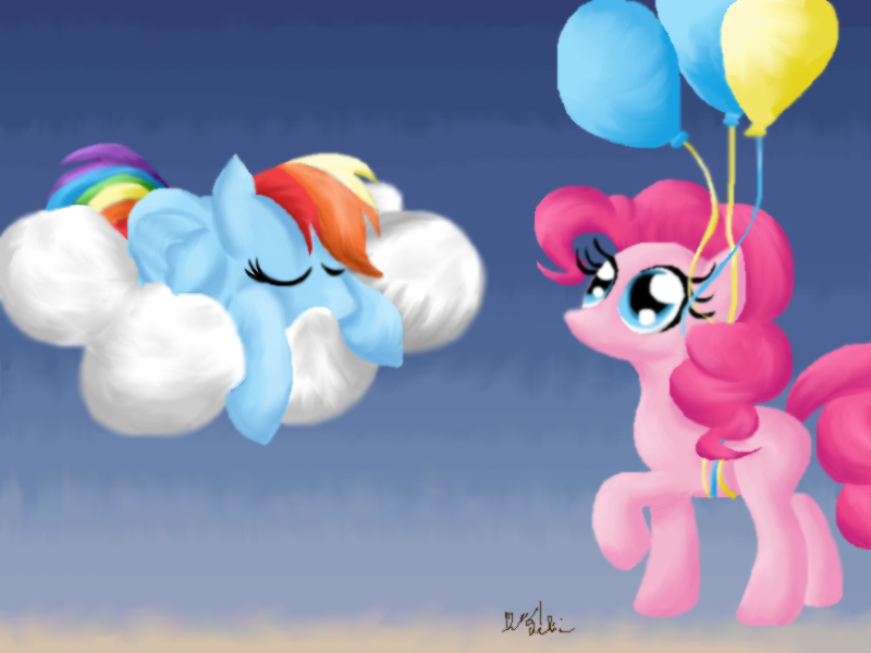 Morning Dashie by RainbowPieMLPFiM