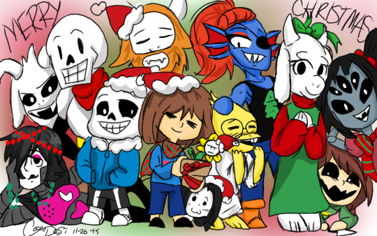 Undertale Christmas.Merry Undertale Christmas By Cocoadesi On Deviantart