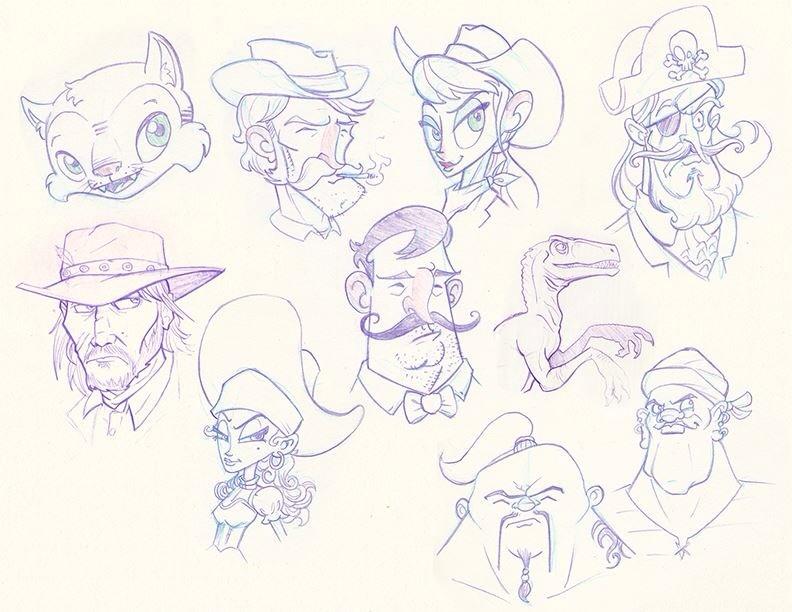 Miscellaneous sketchbook nonsense... by bryanlouie