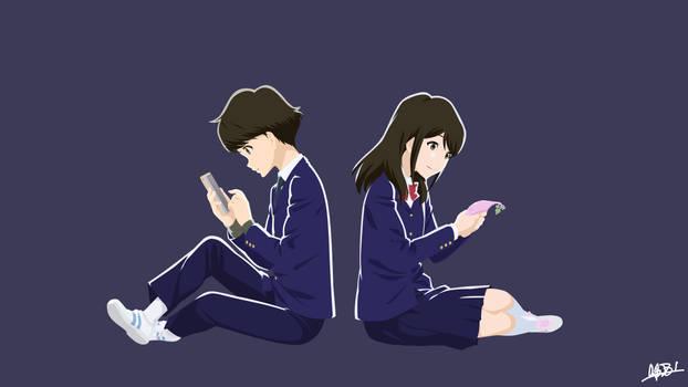 Azumi and Akane (Tsuki ga Kirei) Vector by NurAlifSidoel