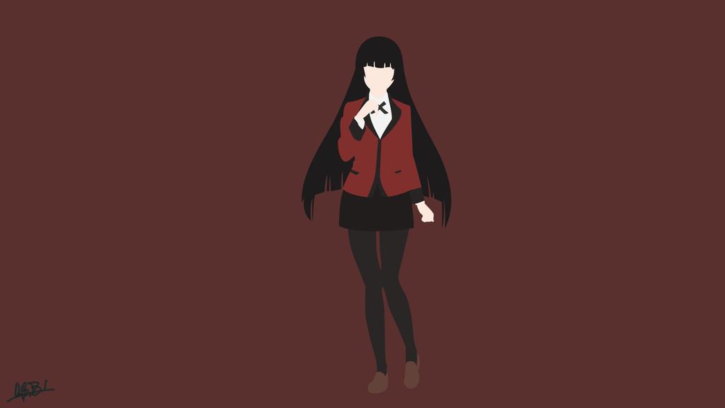 Jabami Yumeko (Kakegurui) Minimalist By NurAlifSidoel On