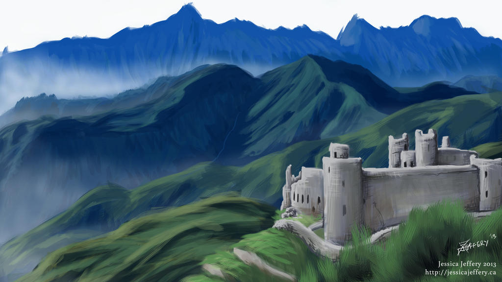 Mountain Fortress by Trikucian
