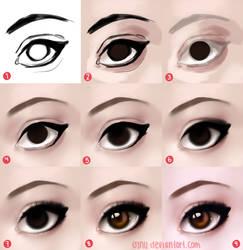 stylized eye process (steps in desc)