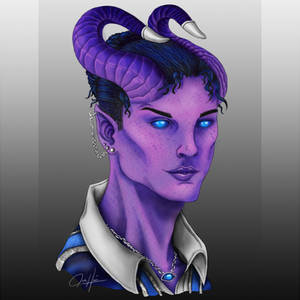2020, digital - Cure, a tiefling cleric