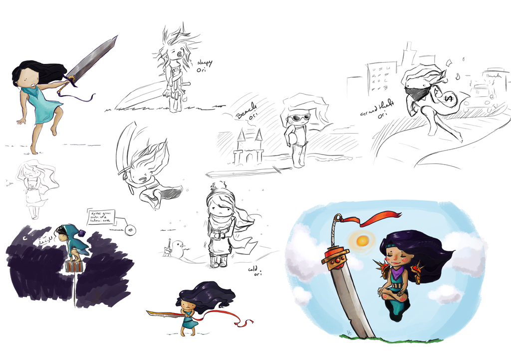 Oriana sketchdump concept by purplypanda20