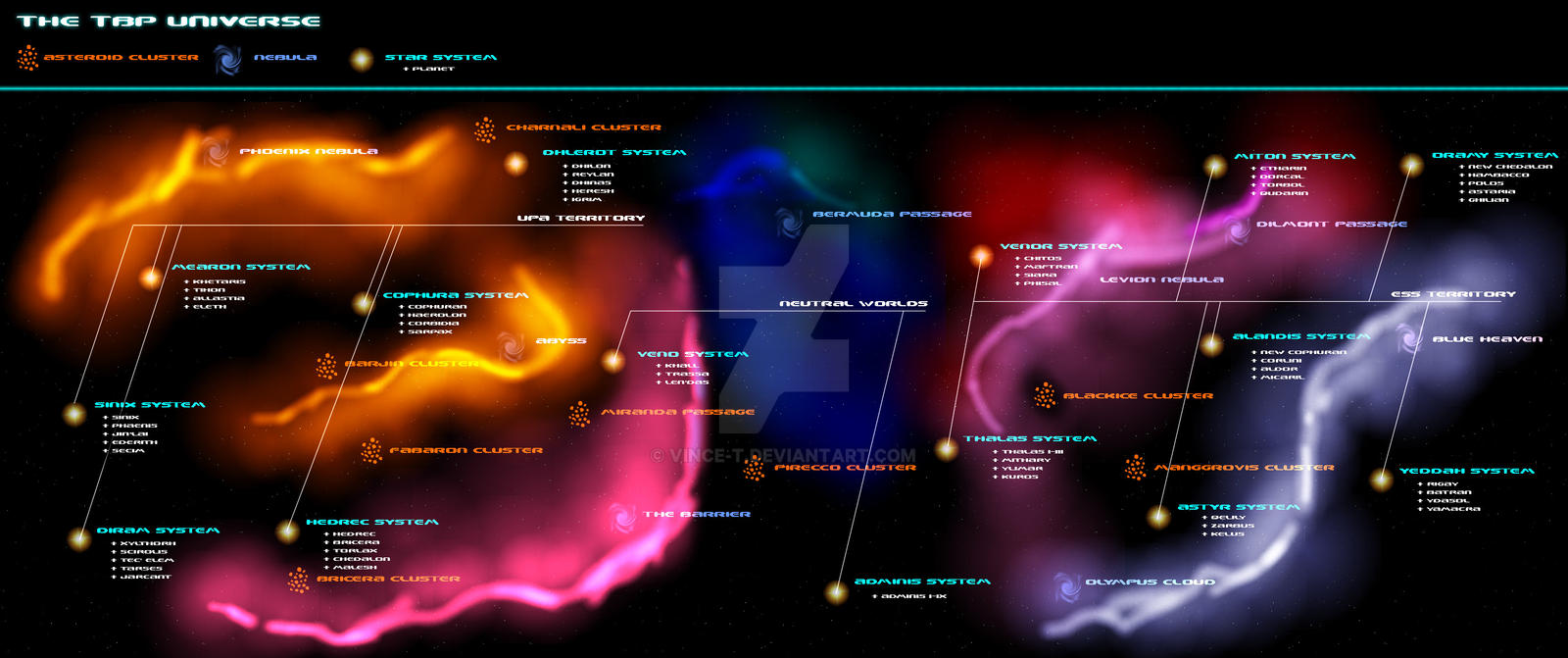 Galaxy Map by Vince-T