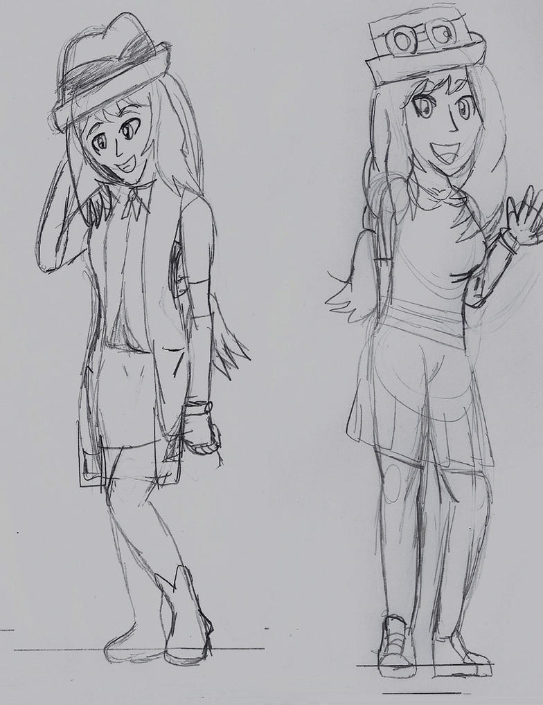 A Serene Journey: Me as Serena in both outfits by Starfighter364