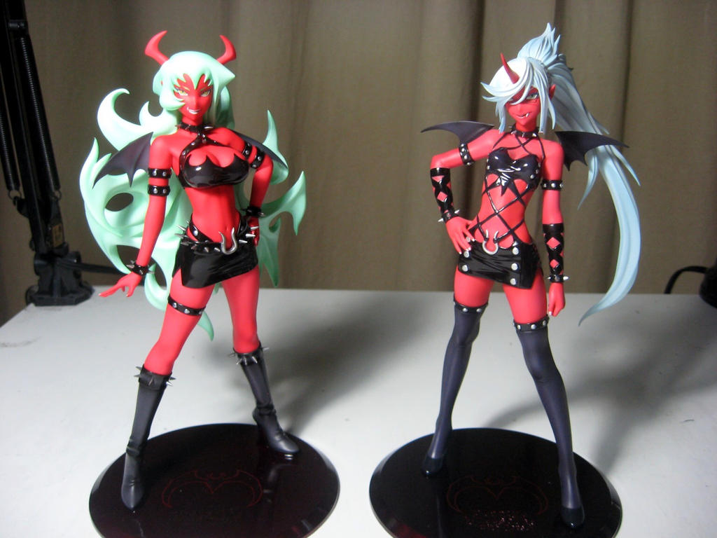 My Scanty and Kneesocks figures by zwimmy