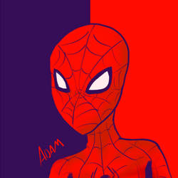 I drew spiderman by BackFromHell666