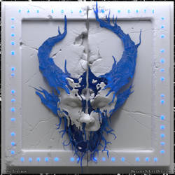 Demon Hunter: Peace ~Funky Blue by Scrybe