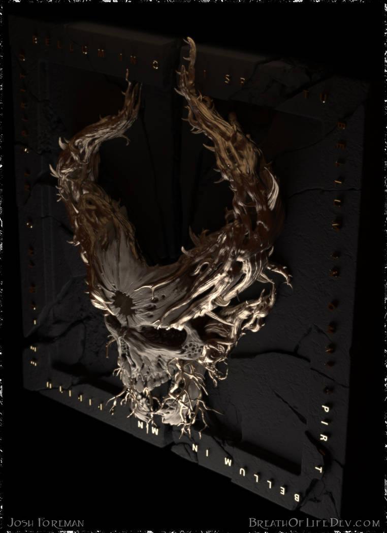 Demon Hunter: War ~ Josh Style Upper Right by Scrybe