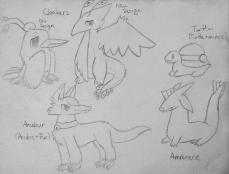 Random Original-(ish) Creatures by pheonix548