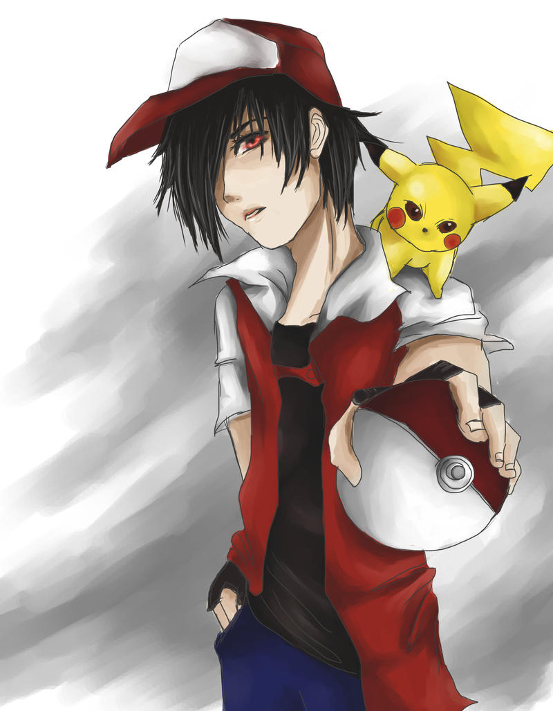 pokemon trainer red by thecatstrikesback on deviantart