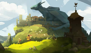 A town is a great chair for a dragon