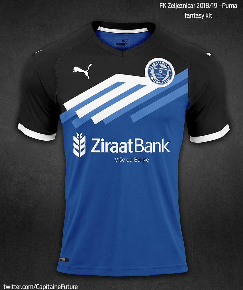 FK Zeljeznicar 2018/19 Fantasy Kit by krejzifrik