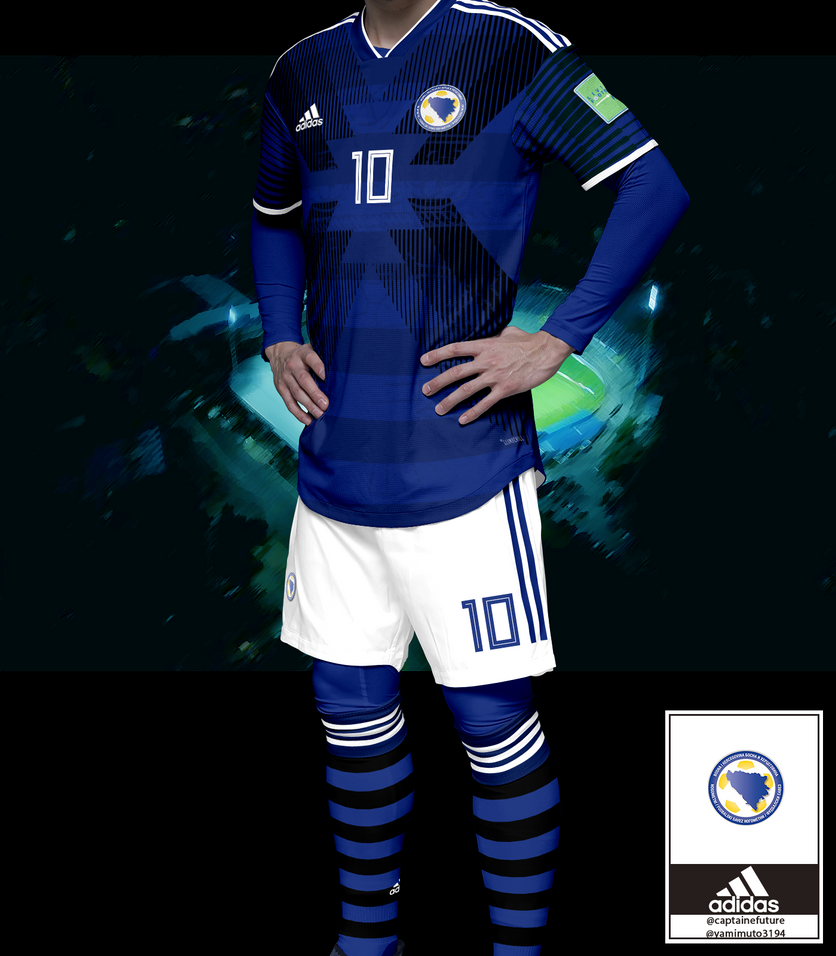 Bosnia and Herzegovina x Adidas x Fantasy 2019 kit by krejzifrik