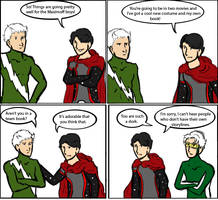 Young Avengers: Maximoffs in Demand by magickmaker