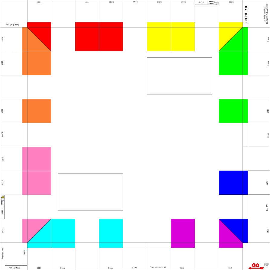 Custom Monopoly Board Template by Soluna17
