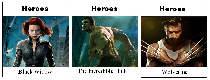 Marvel Monopoly Heroes Spaces by Soluna17