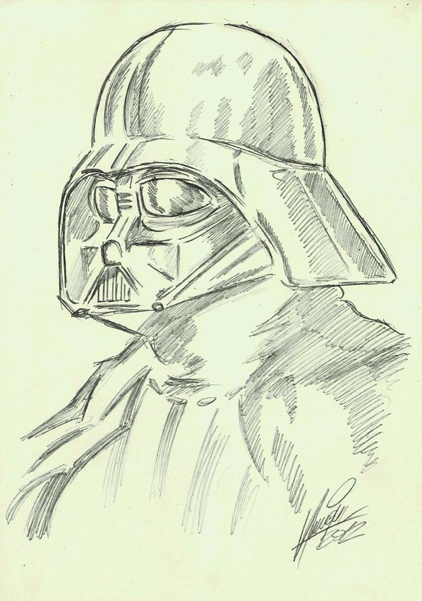 Darth Vader sketch by MistermindH on DeviantArt