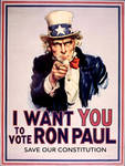 I Want You, To Vote Ron Paul