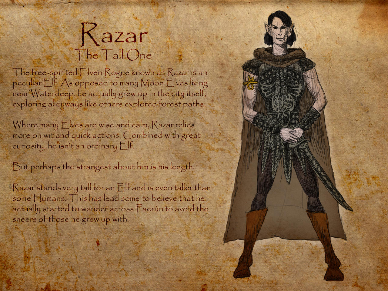 Dungeons and Dragons: Razar by Hellwolve