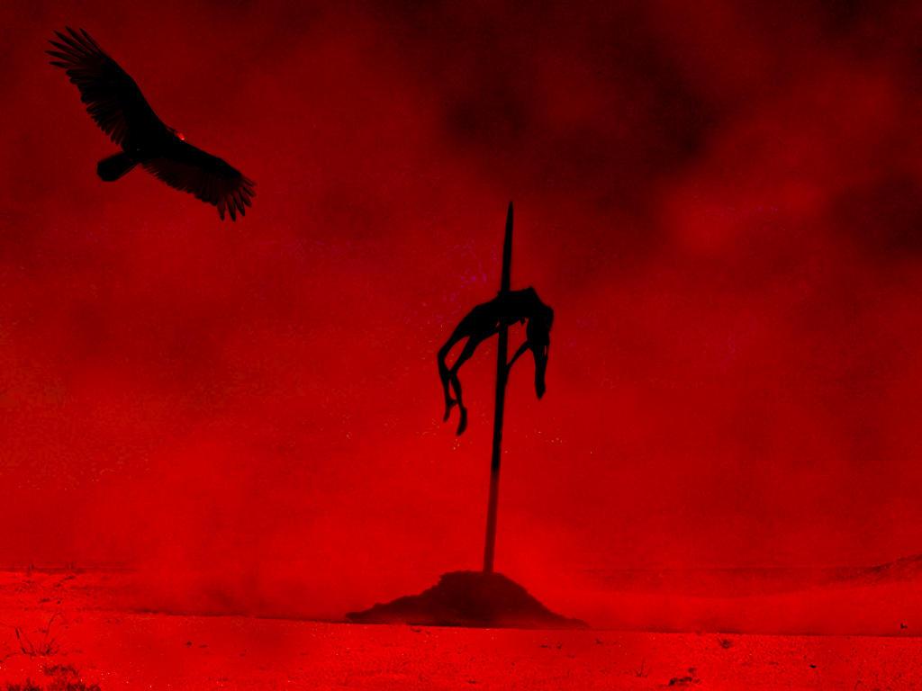Grim Impaled_in_a_desert