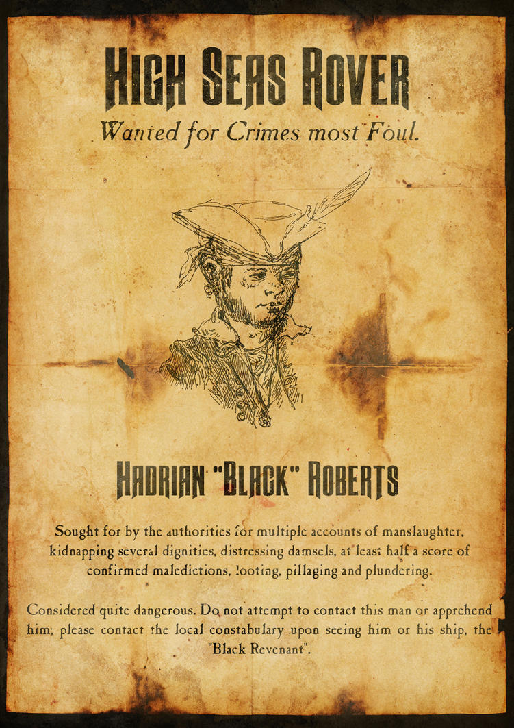 Wanted - Hadrian 'Black' Roberts by Hellwolve