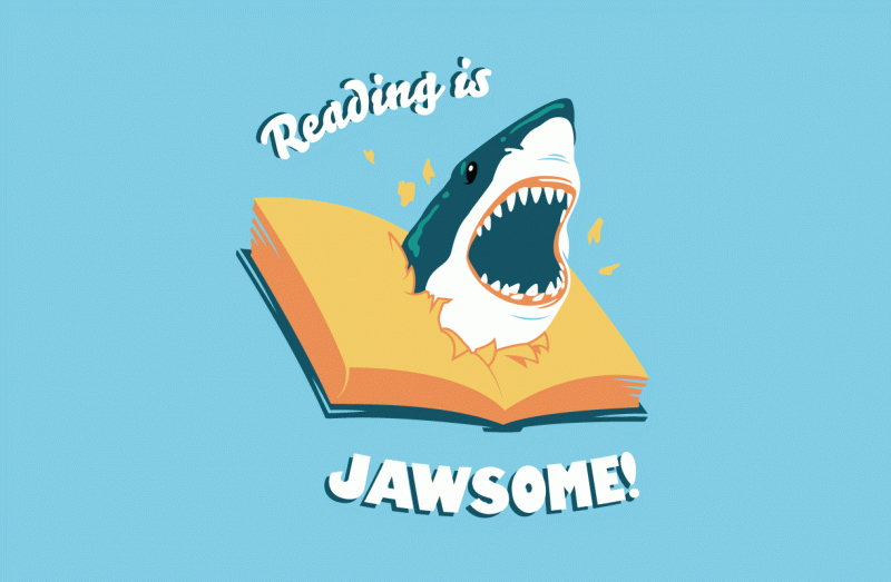 Reading is Jawsome by RYE-BREAD