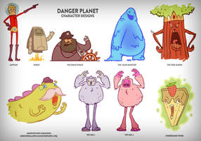 Danger Planet Character Design