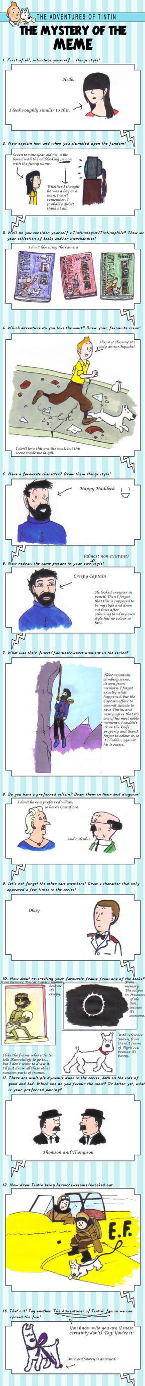 XtreamCrazy's Tintin Meme by TrickyTiara