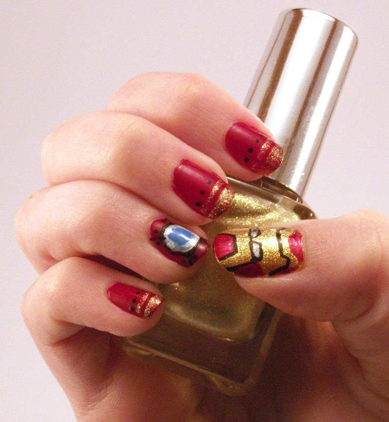 Iron Man Nails by CraftySethir on DeviantArt