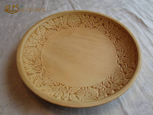 Chip carved basswood bowl