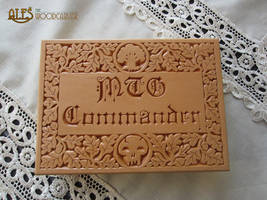 Magic the Gathering - deck box by alesthewoodcarver
