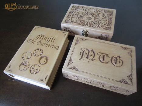 MTG card boxes for Commander decks