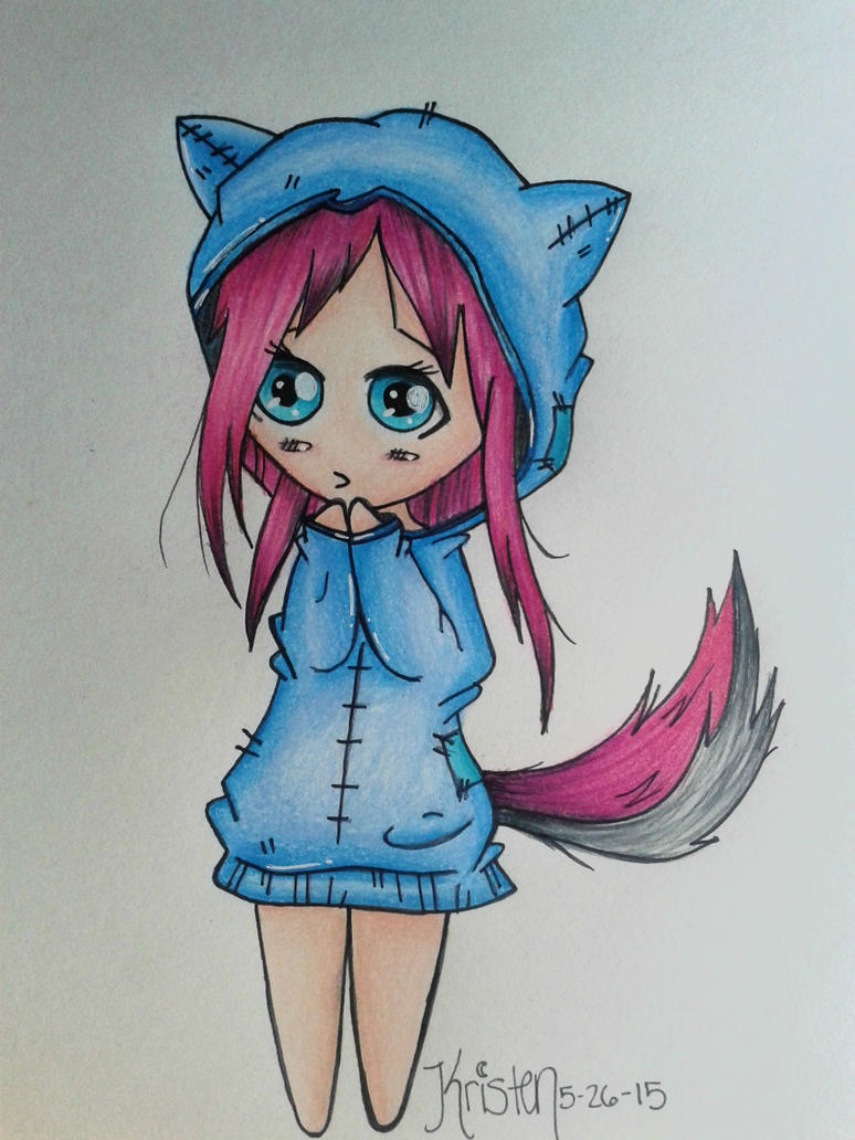 Chibi Cat Girl by summermidnightlights